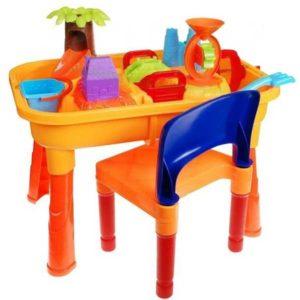005-homokozó és vizező asztal székkel