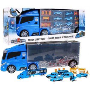 243-Autószállító kamion kék színben