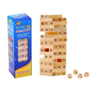 279-Fa mini Jenga játék