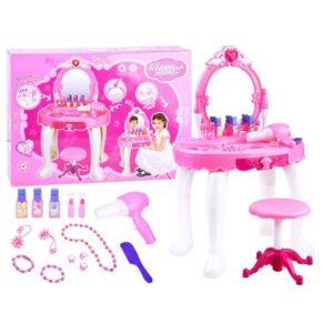 295-Smink és fésülködő asztalka rózsaszín