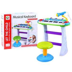 298-Gyermek szintetizátor mikrofonnal és székkel