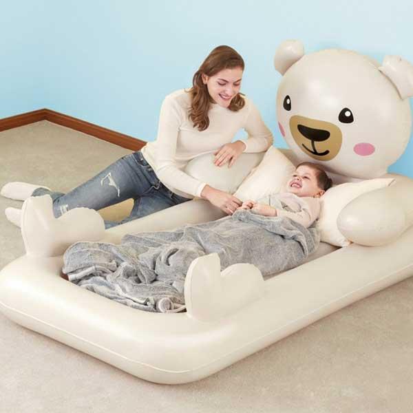 352-Felfújható ágy Bestway macis ágyikó