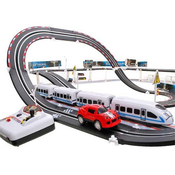 377-Hatalmas versenypálya 2 in 1 autó és vonat