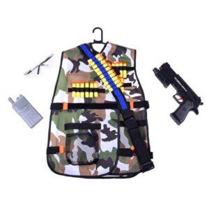 420-Katonai mellény 36 db tölténnyel és játékfegyverrel