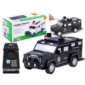 446-Pénzszállító rendőrautó, pin kóddal, ujjlenyomat leolvasóval