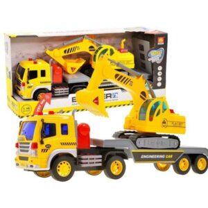 454-Munkagép szállító teherautó